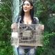 Ashley holding Crayster Lake Trap