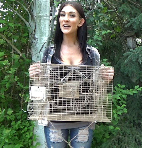 Ashley holding Crayster Lake Trap